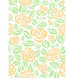 Summer floral pattern with roses vector image