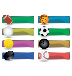 sport banners vector image vector image