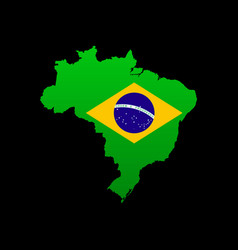 the detailed map of the brazil with flag vector image vector image