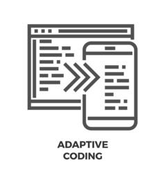 Adaptive Coding Line Icon vector image vector image