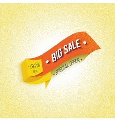 Big sale banner on a yellow background vector