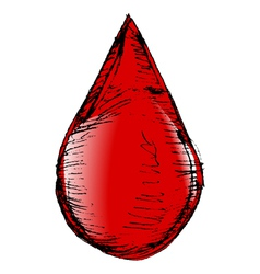 drop of blood vector image vector image