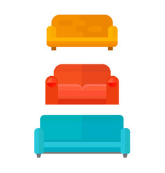 exclusive sitting furniture design bedroom with vector image
