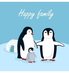 Happy Family Concept In Flat Design vector image vector image