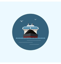 Icon with colored dry cargo ship vector image vector image