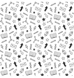 school hand drawn doodle seamless pattern vector image