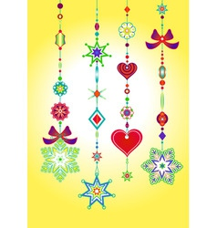 vector illustration of decorative wind chimes with vector image vector image