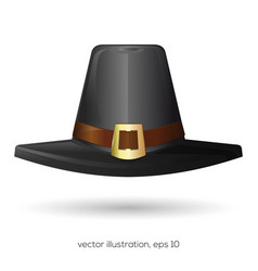 black pilgrims hat vector image