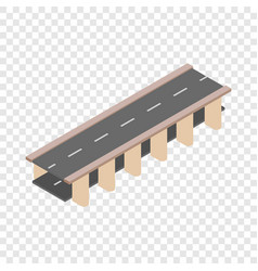 bridge road isometric icon vector image vector image