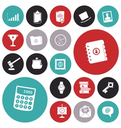 icons for business and work vector image vector image