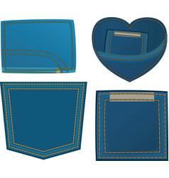 jeans design vector image