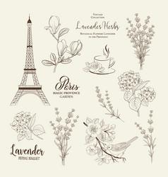 paris romantic collection vector image vector image