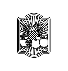 Striped contour rectangle heraldic border with vector
