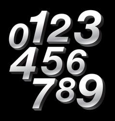 3-d block numbers vector
