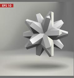 3d geometric shape vector image