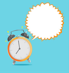 Alarm clock bubble speech background vector