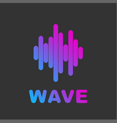 audio wave visual abstract logo music and audio vector image