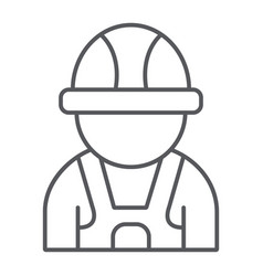auto mechanic thin line icon car and person vector image