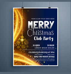 Awesome christmas party poster template design vector