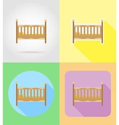 baby flat icons 07 vector image