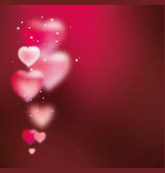 Background with hearts for valentines day vector