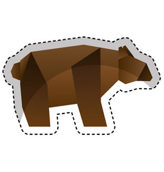 Bear low poly style vector