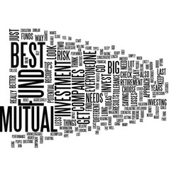 Best mutual fund companies text background word vector
