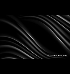 Black white waves lines effect realistic elements vector