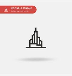 Burj khalifa simple icon vector