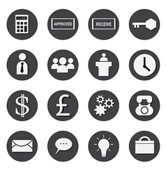 business icons set eps 10 vector image
