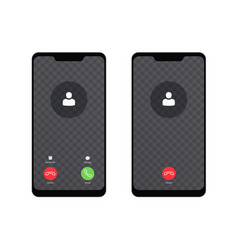 call screen modern mobile phone smartphone vector image