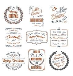 Christmas Elements Set vector image