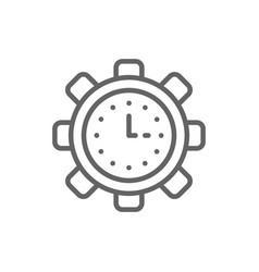 clock in gear tech watch productivity vector image