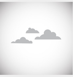 cloud on white background vector image
