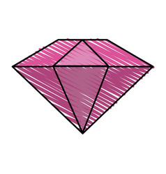 Colorful diamond stone cartoon vector