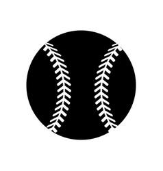 contour ball to play baseballl icon vector image
