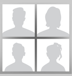 default avatar placeholder set man woman vector image