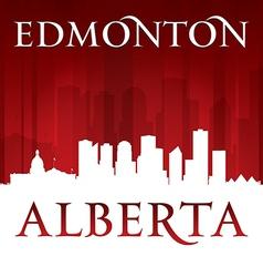 Edmonton Alberta Canada city skyline silhouette vector image