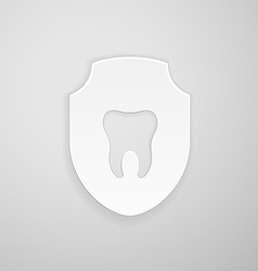 Emblem human tooth vector image