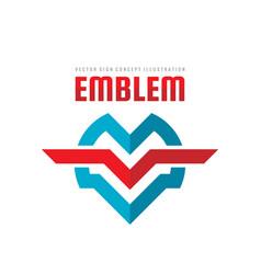 emblem - logo template concept vector image