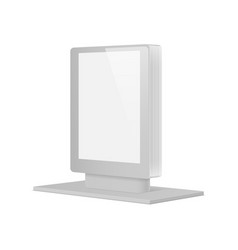 empty retail stand vector image