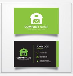 Farmhouse icon business card template vector