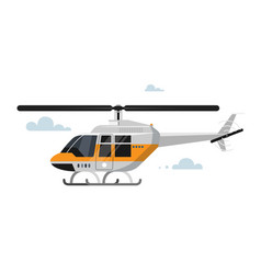 Flat helicopter vector