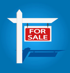 For sale wooden placard buy or rent house vector