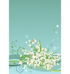 Frame with snowdrops vector