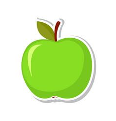 green apple sweet fruit isolated fruit on white vector image