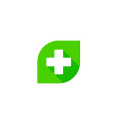 green medical logo icon design vector image