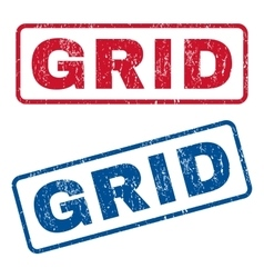 Grid Rubber Stamps vector