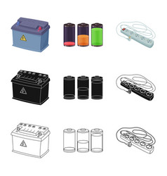 Isolated object electricity and electric logo vector
