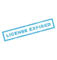 License Expiblue Rubber Stamp vector